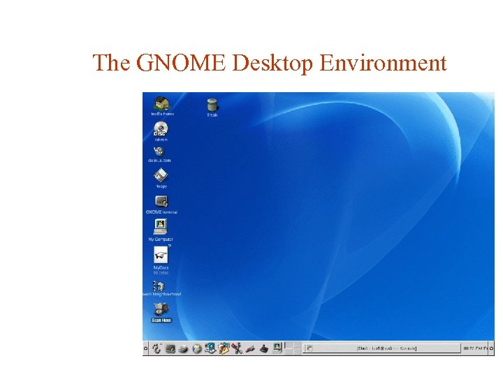 The GNOME Desktop Environment