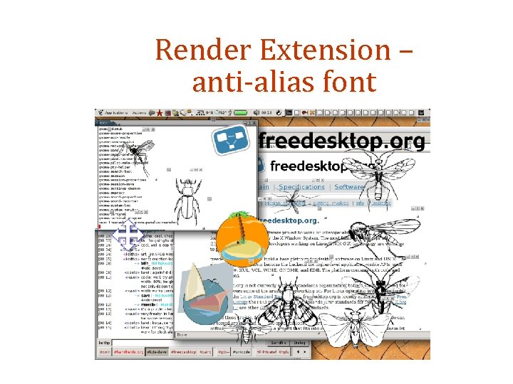 Render Extension – anti-alias font