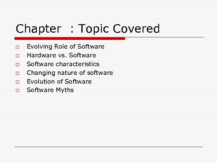 Chapter Introduction to Software Engineering Ref book