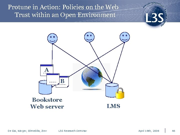 Protune in Action: Policies on the Web Trust within an Open Environment A x