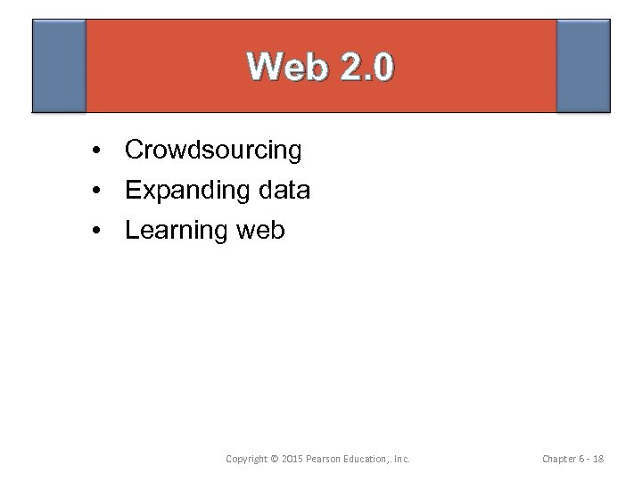Web 2. 0 • Crowdsourcing • Expanding data • Learning web Copyright © 2015