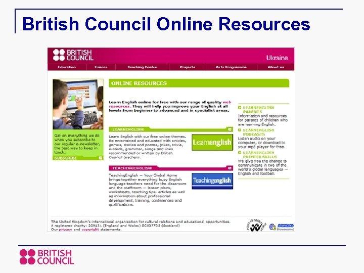 British Council Online Resources