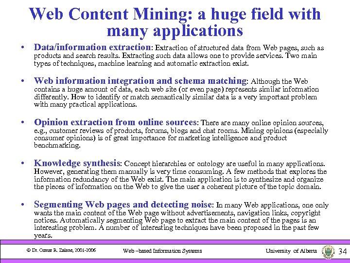 Web-Based Information Systems Fall 2006 CMPUT 410 Web