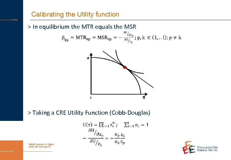 Calibrating the Utility function > In equilibrium the MTR equals the MSR σ 0