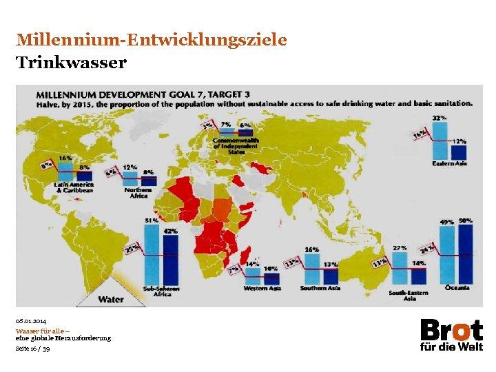 Millennium-Entwicklungsziele Trinkwasser Das Prinzip aller Dinge ist das Wasser; aus Wasser ist alles und