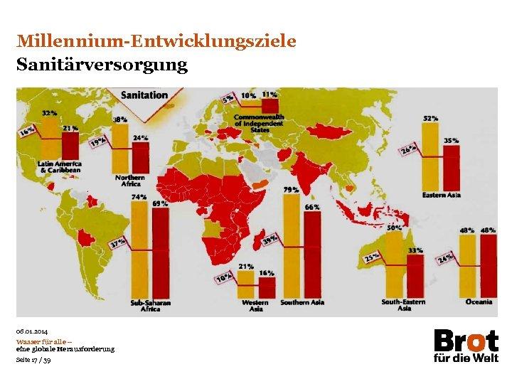 Millennium-Entwicklungsziele Sanitärversorgung Das Prinzip aller Dinge ist das Wasser; aus Wasser ist alles und