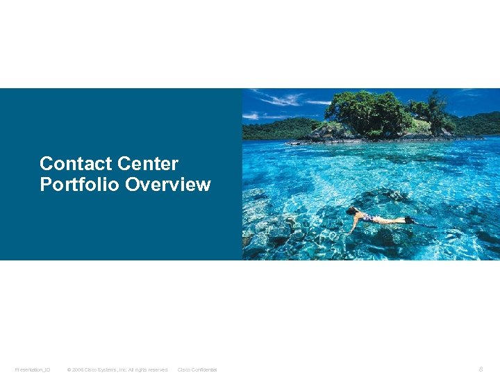 Contact Center Portfolio Overview Presentation_ID © 2006 Cisco Systems, Inc. All rights reserved. Cisco