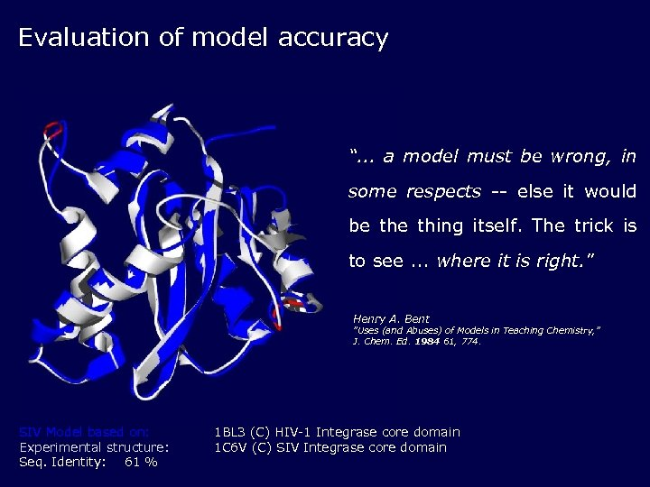 "Evaluation of model accuracy "". . . a model must be wrong, in some"