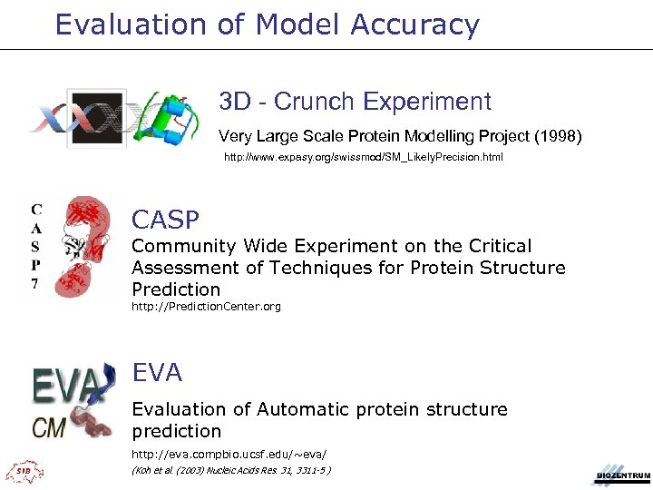 Evaluation of Model Accuracy 3 D - Crunch Experiment Very Large Scale Protein Modelling