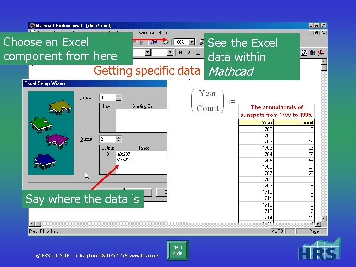 Choose an Excel See the Excel component from here data within Getting specific data