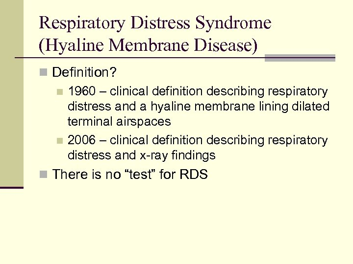 Common Respiratory Disorders of the Neonate Common