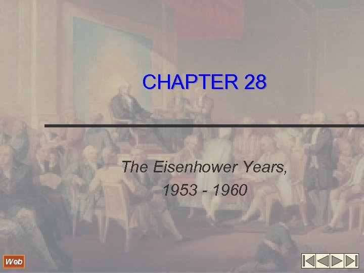 CHAPTER 28 The Eisenhower Years, 1953 - 1960 Web