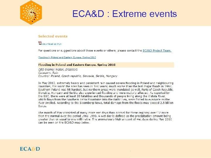 2009 ECA&D : Extreme events