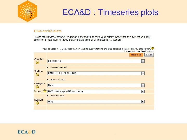 2009 ECA&D : Timeseries plots