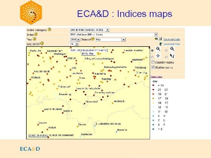 2009 ECA&D : Indices maps