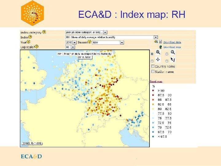 2009 ECA&D : Index map: RH