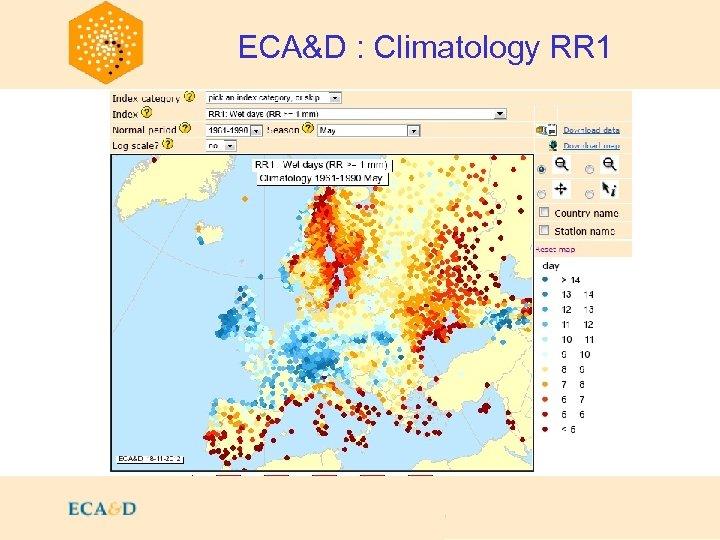 2009 ECA&D : Climatology RR 1