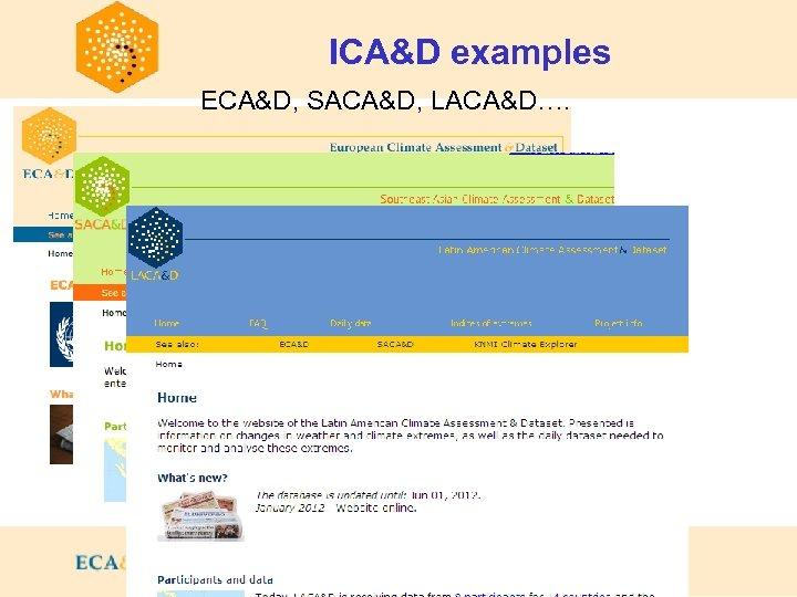 ICA&D examples ECA&D, SACA&D, LACA&D….