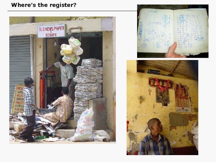 Where's the register?
