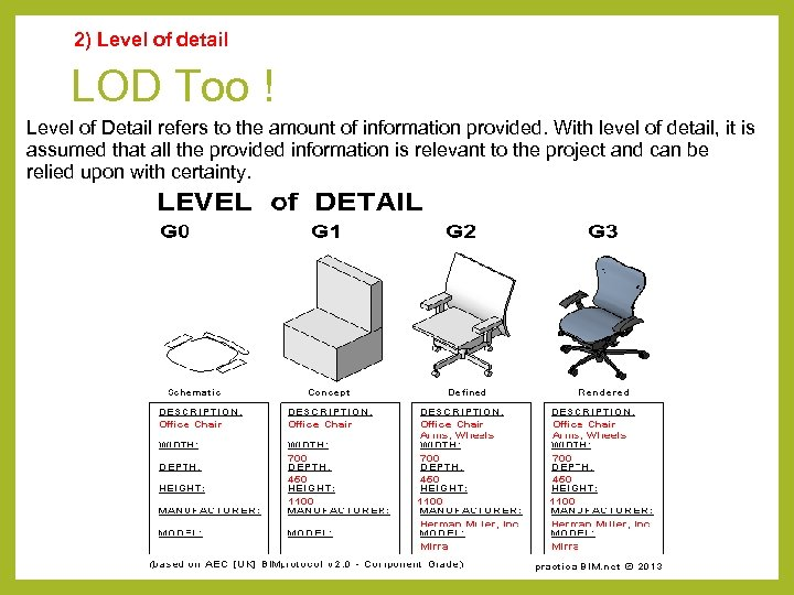 2) Level of detail LOD Too ! Level of Detail refers to the amount