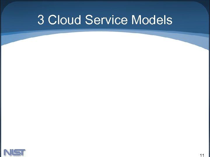 3 Cloud Service Models 11