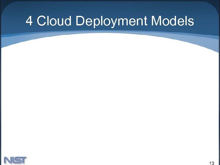 4 Cloud Deployment Models 13