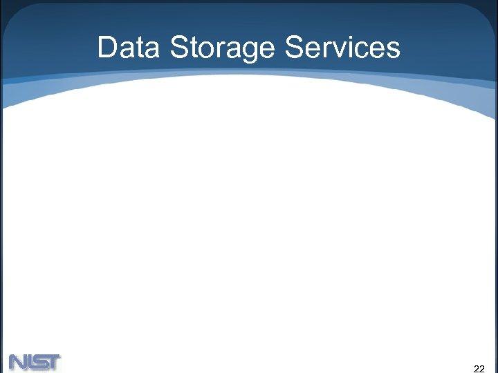 Data Storage Services 22