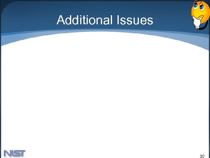 Additional Issues 30