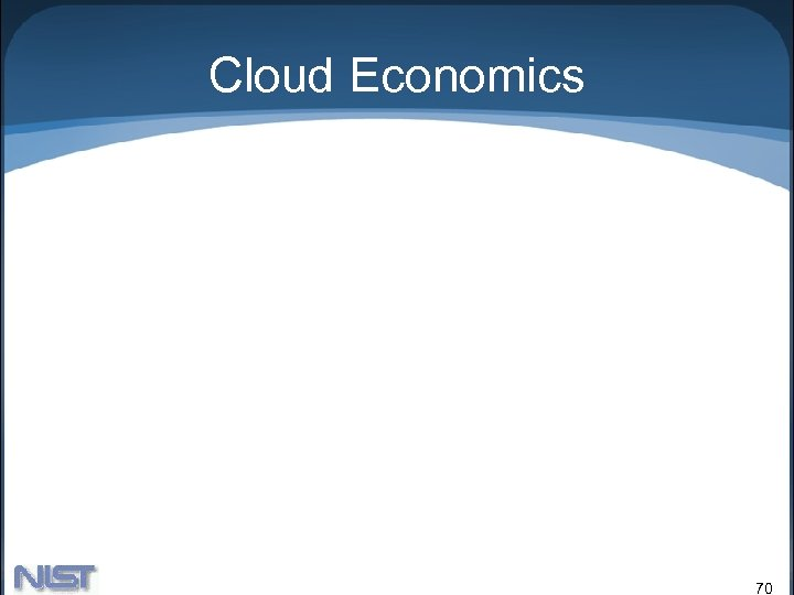 Cloud Economics 70