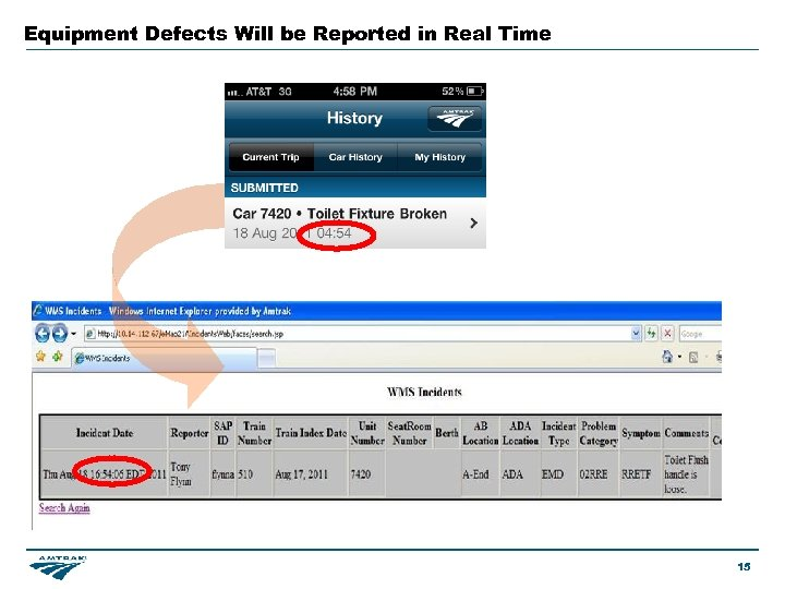 Equipment Defects Will be Reported in Real Time 15