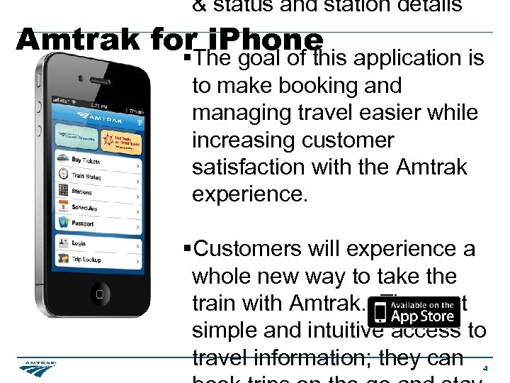 & status and station details Amtrak for i. Phone §The goal of this application