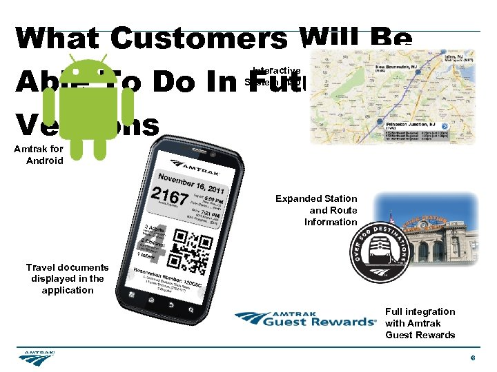 What Customers Will Be Able To Do In Future Versions Interactive System Map Amtrak