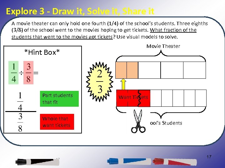Explore 3 - Draw it, Solve it, Share it A movie theater can only
