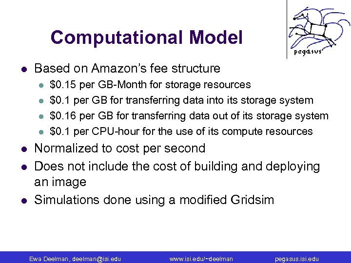 Computational Model l Based on Amazon's fee structure l l l l $0. 15