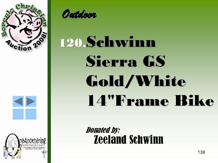 Outdoor 120. Schwinn Sierra GS Gold/White 14