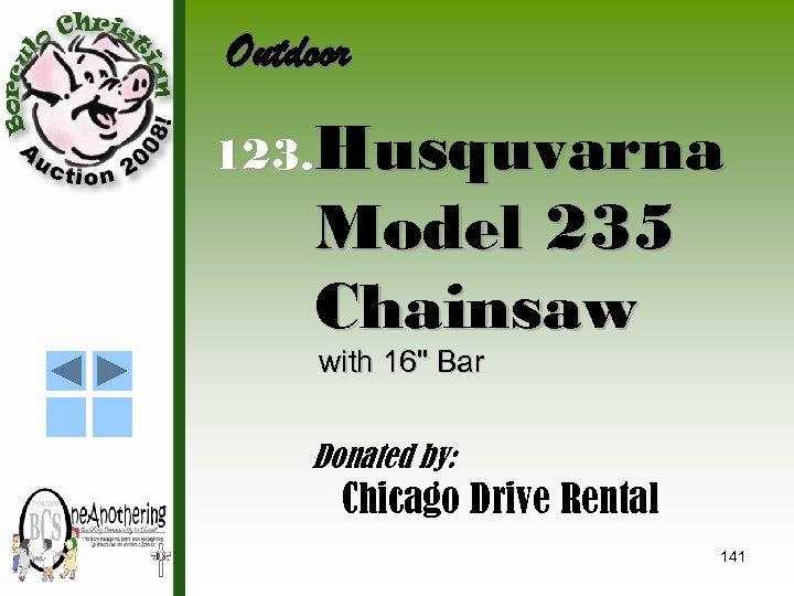 Outdoor 123. Husquvarna Model 235 Chainsaw with 16