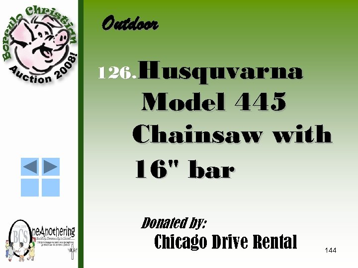 Outdoor 126. Husquvarna Model 445 Chainsaw with 16
