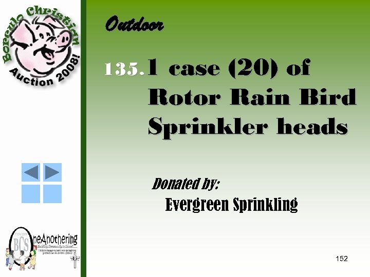 Outdoor 135. 1 case (20) of Rotor Rain Bird Sprinkler heads Donated by: Evergreen