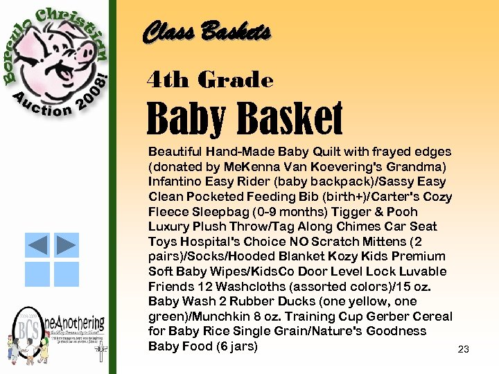 Class Baskets 4 th Grade Baby Basket Beautiful Hand-Made Baby Quilt with frayed edges