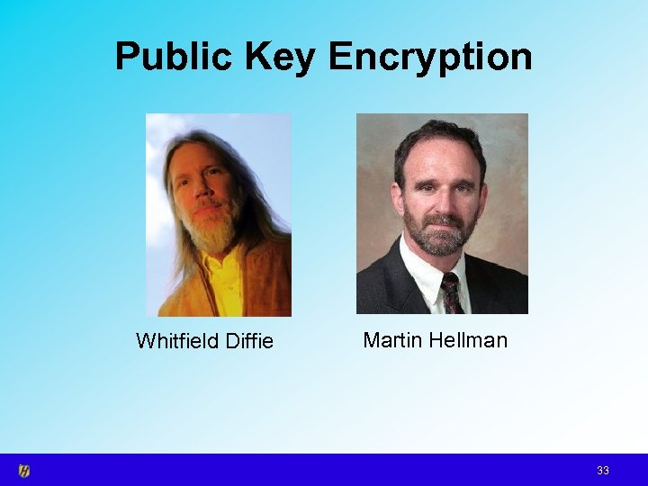 Public Key Encryption Whitfield Diffie Martin Hellman 33