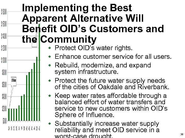 Implementing the Best Apparent Alternative Will Benefit OID's Customers and the Community w Protect