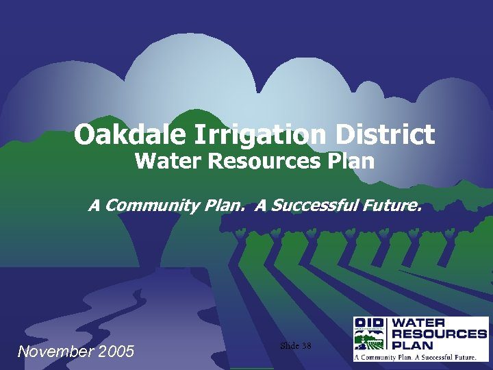 Oakdale Irrigation District Water Resources Plan A Community Plan. A Successful Future. November 2005
