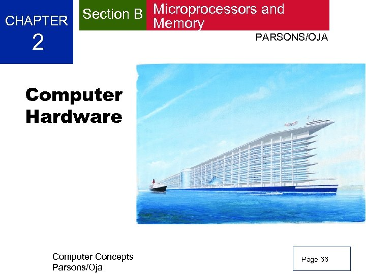 CHAPTER 2 Section B Microprocessors and Memory PARSONS/OJA Computer Hardware Computer Concepts Parsons/Oja Page