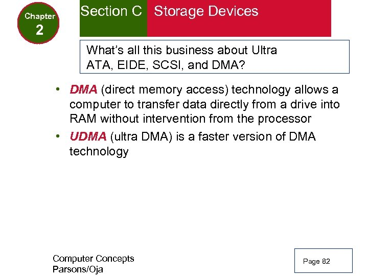 Chapter Section C Storage Devices 2 What's all this business about Ultra ATA, EIDE,