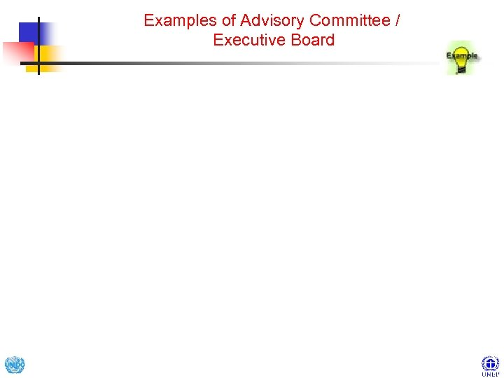 Examples of Advisory Committee / Executive Board
