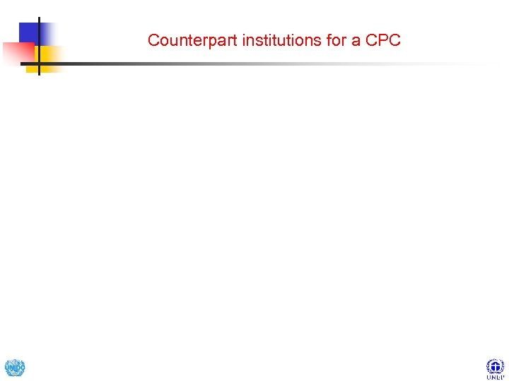 Counterpart institutions for a CPC