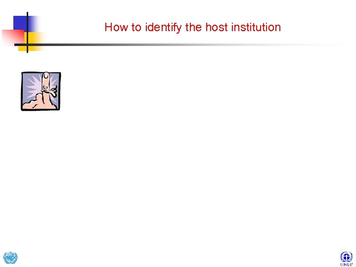 How to identify the host institution