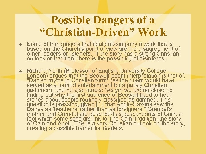 """Possible Dangers of a """"Christian-Driven"""" Work l Some of the dangers that could accompany"""