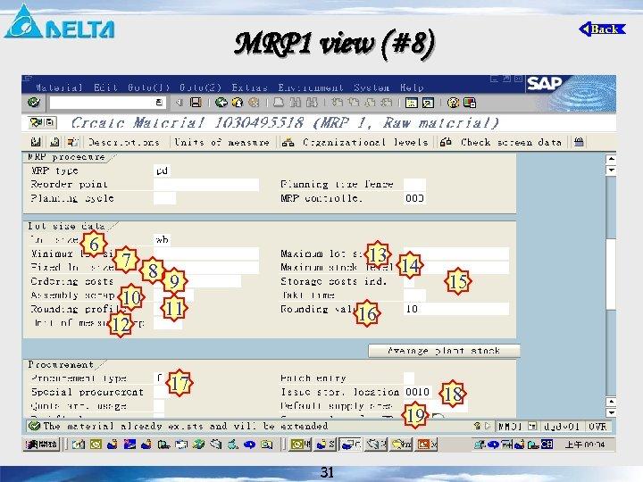 MRP 1 view (#8) 6 7 10 12 8 13 9 11 14 15