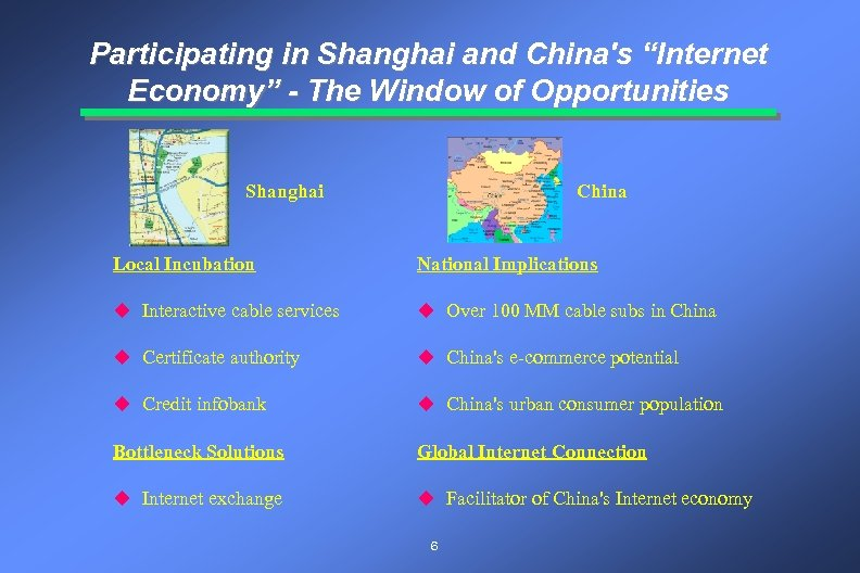 "Participating in Shanghai and China's ""Internet Economy"" - The Window of Opportunities Shanghai China"